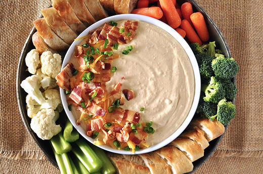 Beer Cheese Bacon Dip is perfect for game day appetizers!