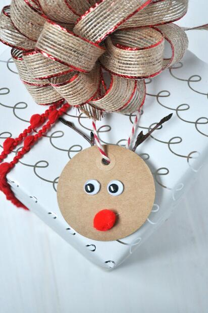 6 Rudolph Gift Tag