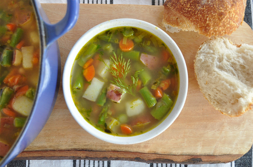 Fresh Spring Minestrone Soup