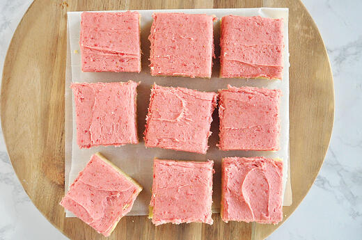 Strawberry Sugar Cookie Bars