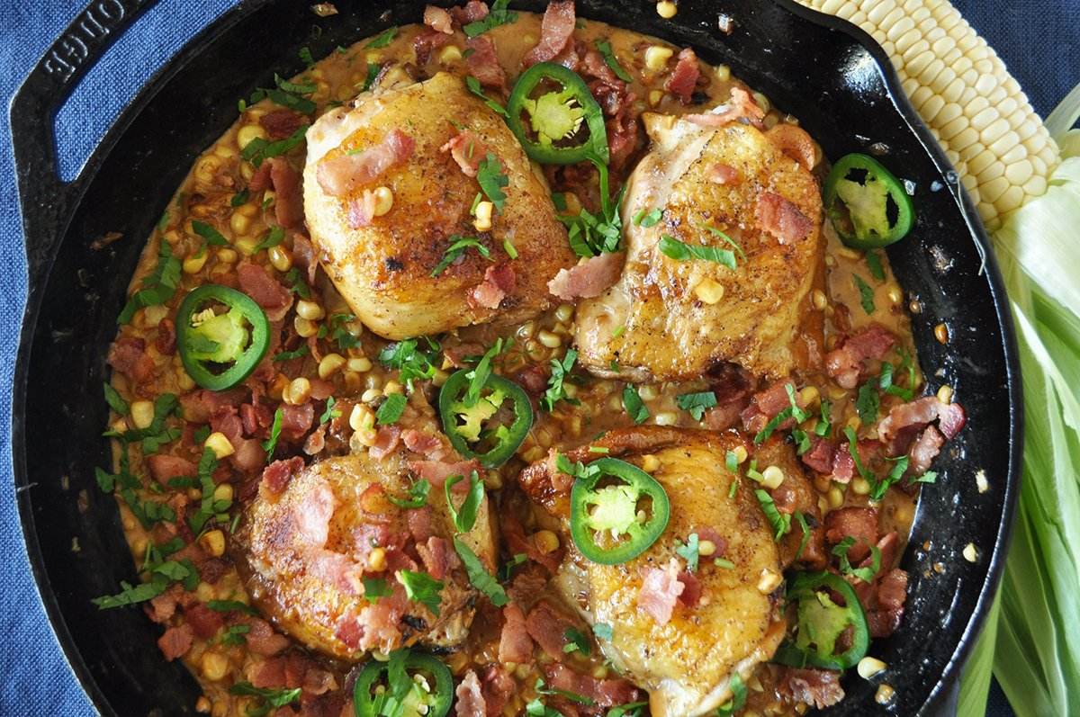 Jalapeño Creamed Corn Chicken