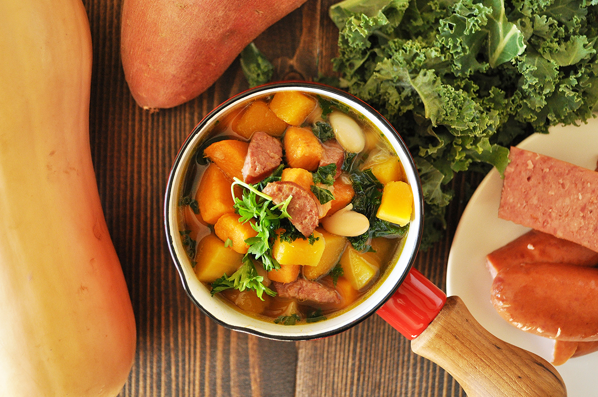 Winter Vegetable and Sausage Soup